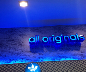adidas, light, and blue image