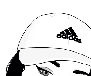 outline, adidas, and girl image