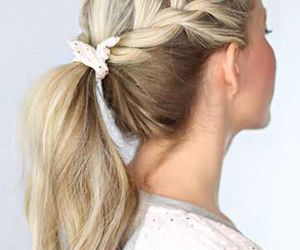 hair, blonde, and ponytail image