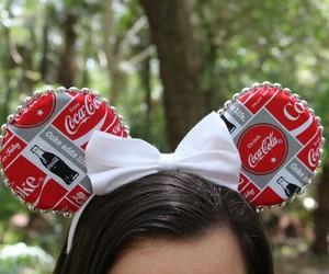 coca-cola, disney, and mickey ears image