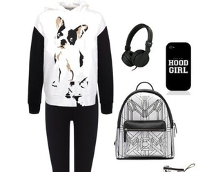 black and white, casual, and dress up image