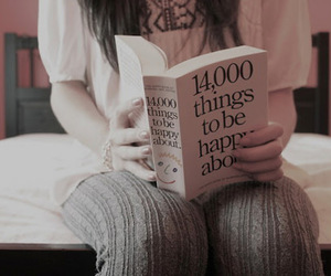 book, happy, and girl image