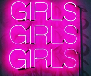 girls, glow, and pink image
