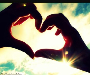 heart, love, and sky image