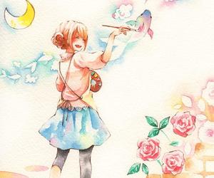 anime, anime girl, and colors image