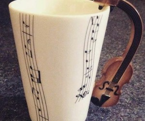 cafe, tazas, and violin image