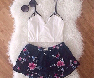 clothes, shorts, and white image