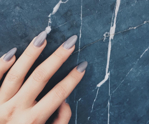 nails, grey, and marble image