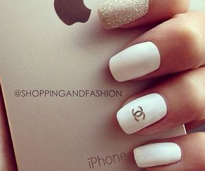 apple, chanel, and nails image