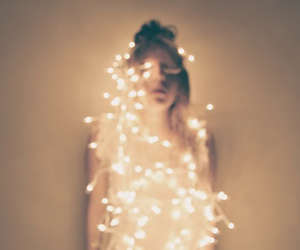 light, girl, and fairy lights image