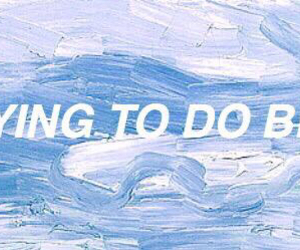 quote, art, and blue image