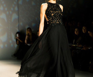 black dress, dress, and elegance image