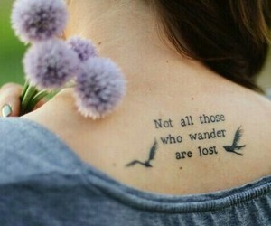 tattoo, quotes, and bird image
