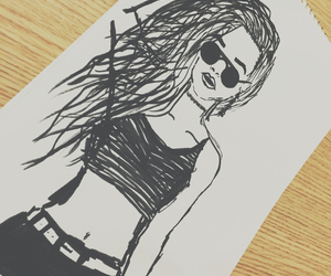 draw, drawing, and eyeglasses image