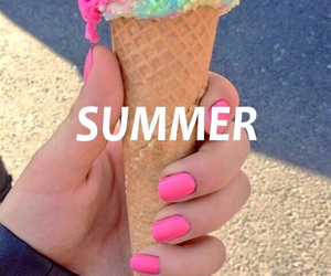 summer, ice cream, and nails image