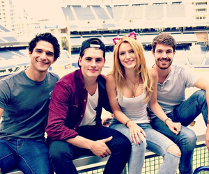 teen wolf, tyler posey, and bella thorne image