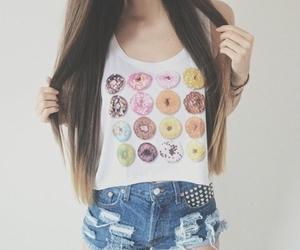 fashion, donuts, and hair image
