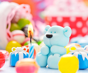 birthday, blue, and candles image