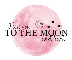I Love You, moon, and pink image