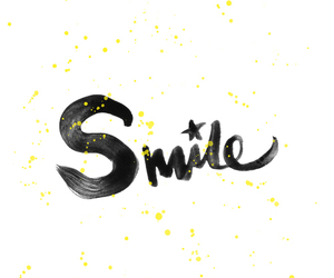 quote, calligraphy, and smile image