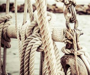 cream, knots, and rope image