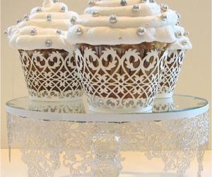 cupcake, white, and food image