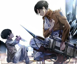 levi, shingeki no kyojin, and anime image