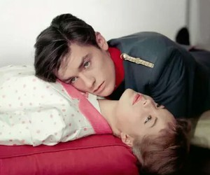 Alain Delon, Romy Schneider, and love image