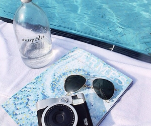 summer, pool, and blue image