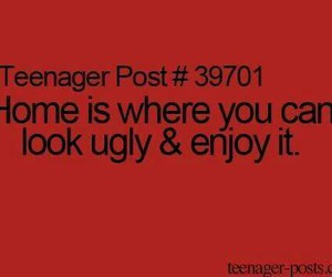 home, quote, and teenager post image