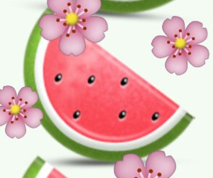 flowers, summer time, and watermelon image
