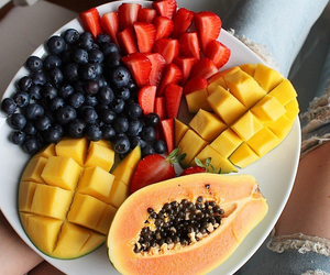 fit, food, and mango image