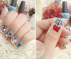 doraemon and nails image