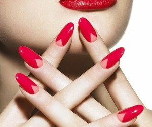 nails, fashion, and lips image