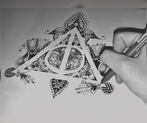 harry potter, book, and draw image