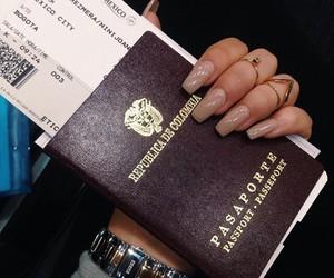 nails, passport, and travel image