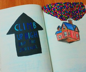balloons, up, and wreck this journal image
