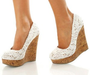 shoes, girl, and wedges image