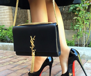 bag, shoes, and YSL image