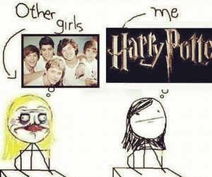 harry potter, funny, and one direction image