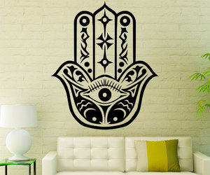 wall decals, home decor, and hamsá image
