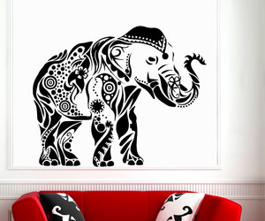 wall decals, indian decor, and art mural image