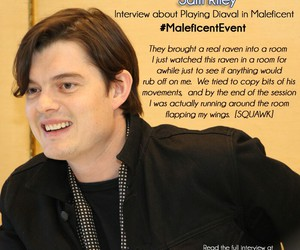 sam riley, maleficent, and diaval image