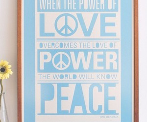 peace, love, and blue image