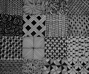 drawing, patterns, and zentangle image