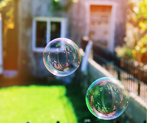 background, bubbles, and colours image