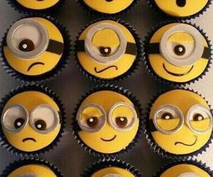 minions, cupcake, and food image