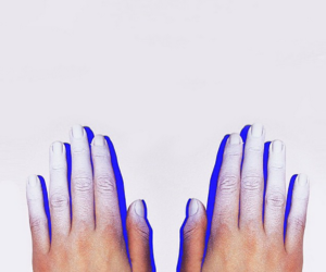 hands, paint, and nails image