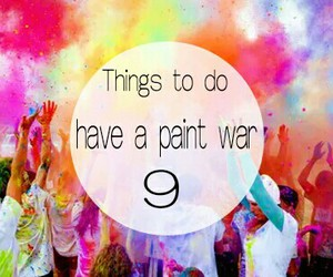 things to do and paint war image