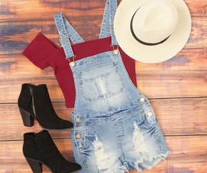 boots, hat, and denim image